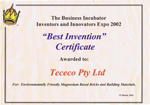Business Incubator Best Invention
